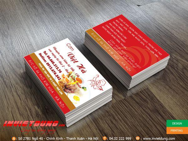 In card visit Cơm Việt Hà