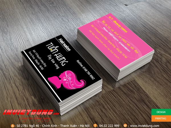 In Business Card cho tiệm tóc Hair salon Tuấn Hưng