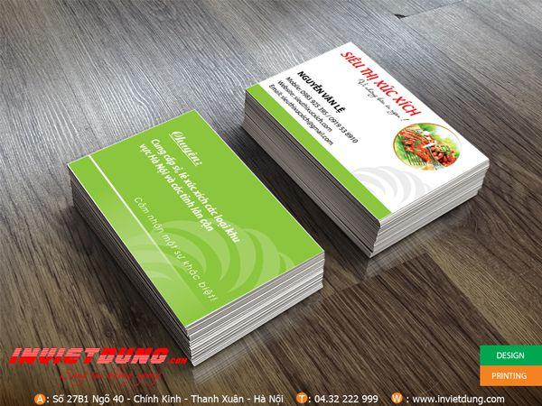 card visit siêu thị xúc xích