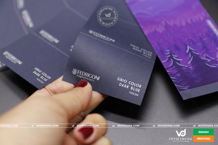 In name card bằng giấy mỹ thuật Sirio Color