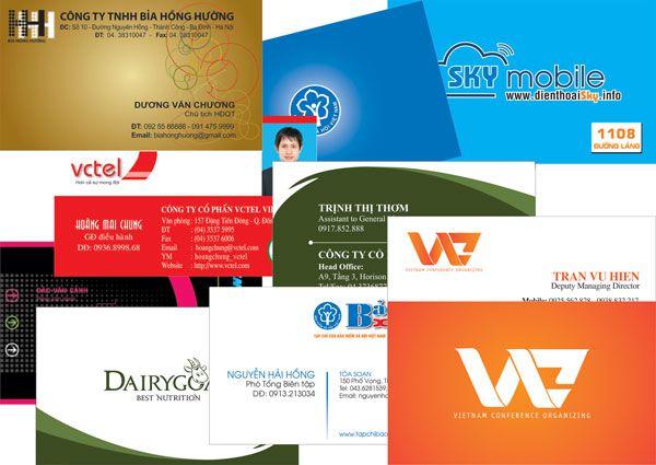 Báo giá in card visit - giá in danh thiep