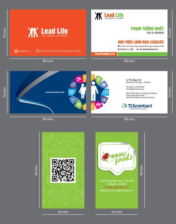 kích thước card visit kích thước tiêu chuẩn card visit