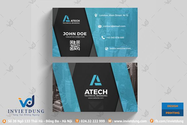 Mẫu name card Black-and-blue-business-card (1)