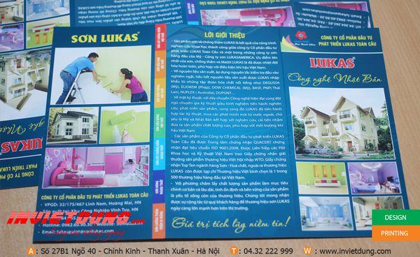 thiết kế tờ rơi sơn lukas