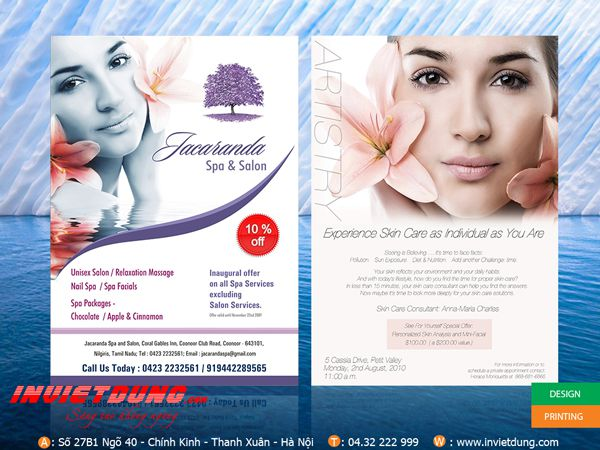in brochure spa đẹp