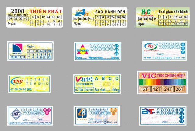 Image result for in tem bảo hành điện thoại